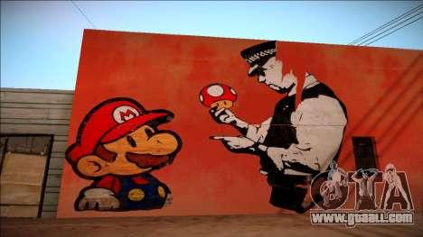 Mario Bros Wall HD for GTA San Andreas