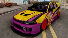 Mitsubishi Lancer Evolution VI GSR 1999 Itasha for GTA San Andreas