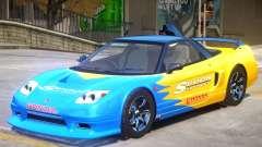 Honda NSX-R GT V1 PJ for GTA 4