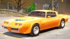 Pontiac TransAm Turbo for GTA 4