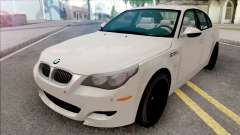 BMW M5 E60 2009 White for GTA San Andreas