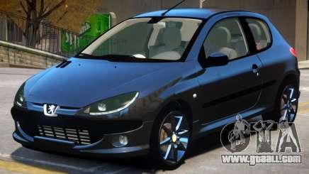 Peugeot 206 V1.1 for GTA 4