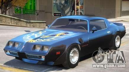 1980 Pontiac TransAm for GTA 4