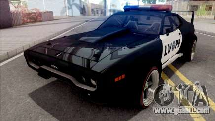 Plymouth GTX 1972 Custom Police LVPD for GTA San Andreas