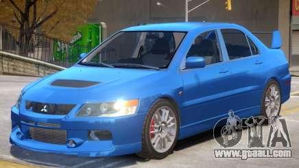 Mitsubishi Lancer Evolution IX V1.1 for GTA 4