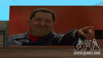 Hugo Chavez Wall for GTA San Andreas