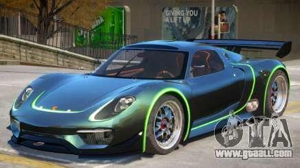 Porsche 918 RSR PJ4 for GTA 4