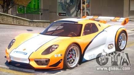 Porsche 918 RSR PJ2 for GTA 4
