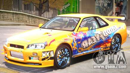 Nissan Skyline R34 PJ for GTA 4