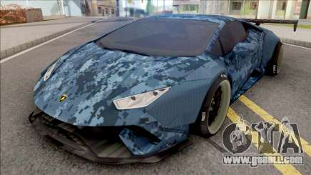 Lamborghini Huracan Performante Blue for GTA San Andreas