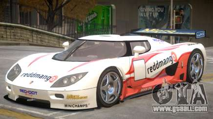 Koenigsegg CCGT V2 PJ2 for GTA 4