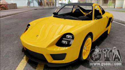 GTA V Pfister Comet SR Yellow for GTA San Andreas