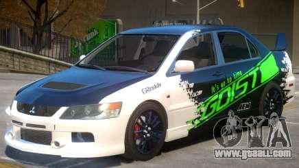 Mitsubishi Lancer Evolution IX V1.1 PJ for GTA 4