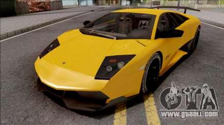 Lamborghini Murcielago LP670-4 SV Yellow for GTA San Andreas