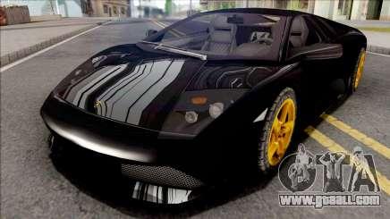Lamborghini Murcielago LP640 Black for GTA San Andreas