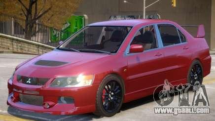 Mitsubishi Lancer Evolution IX V1.2 for GTA 4
