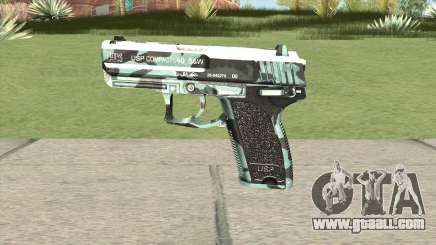 Desert Eagle (Aquamarine) for GTA San Andreas