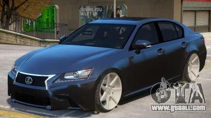 Lexus GS 350 V1 for GTA 4