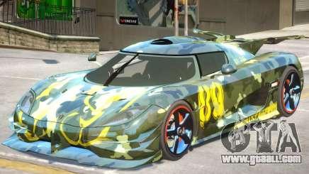 Koenigsegg One PJ1 for GTA 4