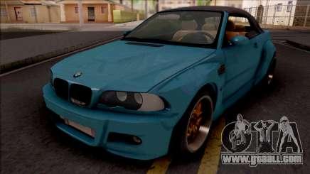 BMW M3 E46 Cabrio Widebody for GTA San Andreas