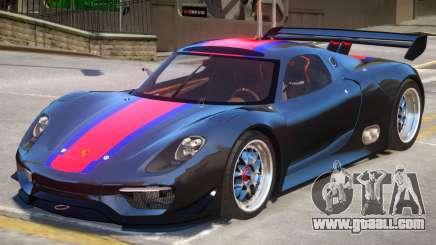 Porsche 918 RSR PJ3 for GTA 4