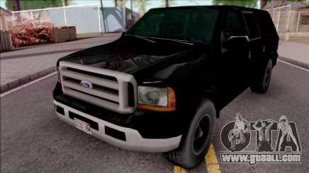 Ford Excursion SWAT Low Poly for GTA San Andreas