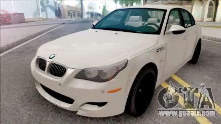 BMW M5 E60 2009 White for GTA San Andreas