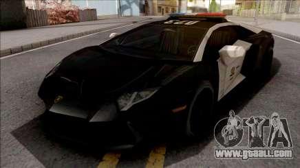 Lamborghini Aventador LAPD for GTA San Andreas