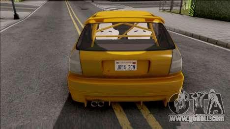 Honda Civic Hatchback Tuned for GTA San Andreas