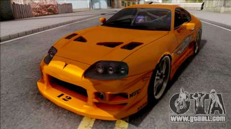 Toyota Supra Fast & Furious with O.Z Wheel for GTA San Andreas