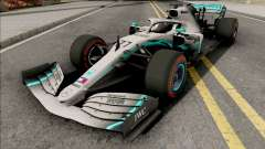 Mercedes-AMG F1 W10 2019 (C4 Tyres Red) for GTA San Andreas