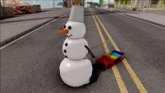 Snowman With Sled for GTA San Andreas