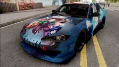 Nissan Silvia S15 Kimetsu no Yaiba Paintjob for GTA San Andreas