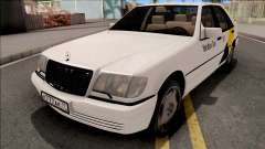 Mercedes-Benz S600L W140 Yandex Taxi White for GTA San Andreas