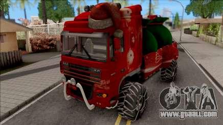 DAF XF Christmas Truck for GTA San Andreas