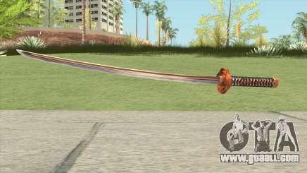 Orange Katana for GTA San Andreas