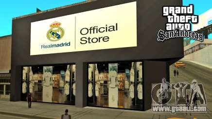 Real Madrid Store for GTA San Andreas