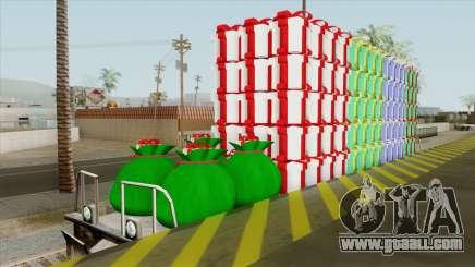 Christmas Railway Wagon for GTA San Andreas