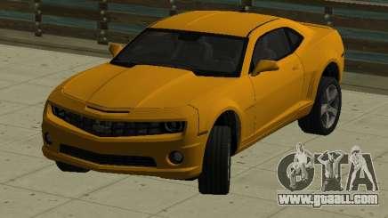 Chevrolet Camaro SS 2010 Yellow for GTA San Andreas