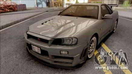 Nissan Skyline GT-R R34 2000 Omori Factory S1 for GTA San Andreas