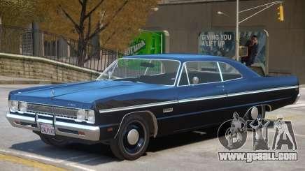 1969 Plymouth Fury for GTA 4