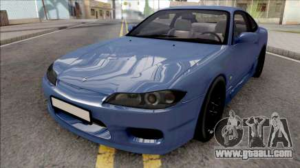 Nissan Silvia S15 Stock Blue for GTA San Andreas