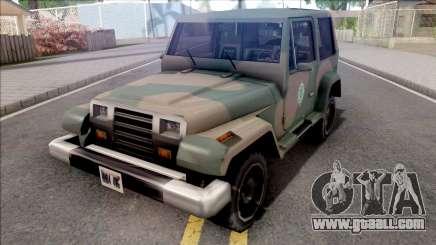 Mesa Jeep Vesao Exercito Brasileiro for GTA San Andreas