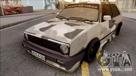 Volkswagen Golf 2 Camo for GTA San Andreas