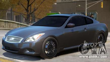 Infiniti G37 Coupe V1 for GTA 4