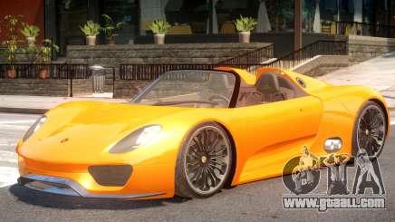 Porsche 918 Roadster for GTA 4