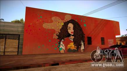 Graffiti a brunette for GTA San Andreas