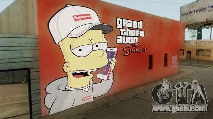 Bart Simpson Mural (GTA The Simpsons) for GTA San Andreas