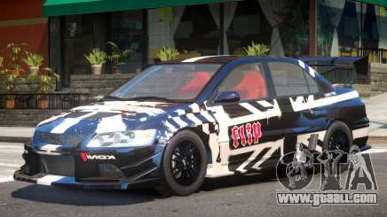 Mitsubishi Evo IX V1 PJ2 for GTA 4
