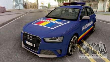 Audi RS4 Jandarmeria Romana for GTA San Andreas